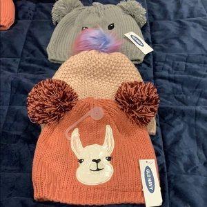 Three bundle beautiful babies hats